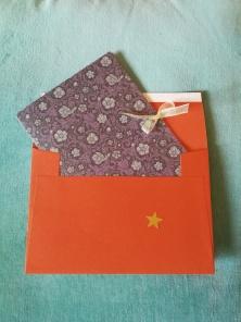 massage voucher envelope